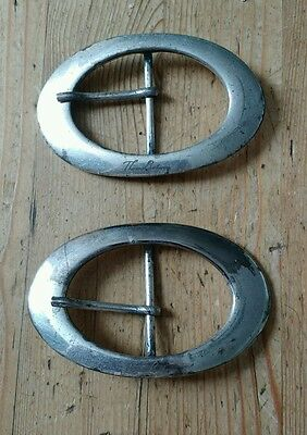 Pair of Large Thomas Burberry Belt Buckles