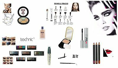 Stock Make Up 24 Pezzi L'oreal Pupa Max Factor Tecnic Collection Professional