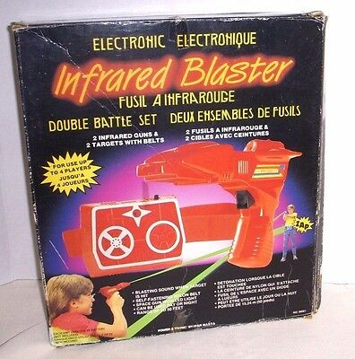 Vintage Electronic Infrared Blaster Double Battle Set - Hasbro 1986 - Works