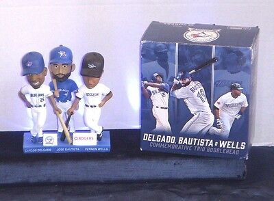 Delgado Bautista & Wells Bobblehead - Blue Jays Stadium Give Away  Ltd Edition