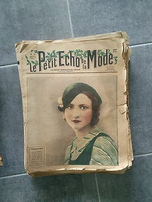 Lot de 38 Numeros du petit echo de la mode 1933