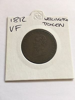 Duke Of Wellington 1812 Peninsular Wars Token Coin. Scarce.