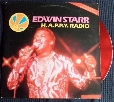 "Edwin Starr-H.a.p.p.y Radio-My Friend//// Red Vinyl1979- Ex+ 12""-1St"