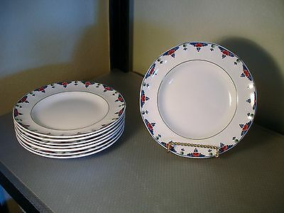 "4 Salad Plates Adams China ""Veruschka"" Pattern English Ironstone 8 1/4"""