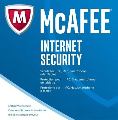 McAfee Internet Security 2017 / 2018 *2-PC/ 1-Jahr* (Win/Mac/Android) / KEY