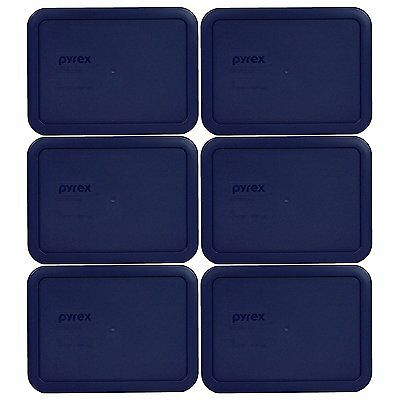 Pyrex 7210-PC Rectangle Dark Blue 3 Cup Storage Lid For Glass Dish (6 Dark Blue)