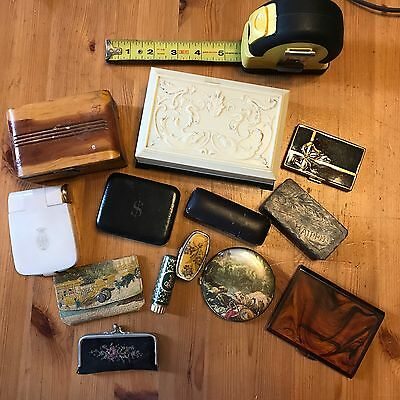 Vintage Lot of Ladies Compacts and Trinket Boxes - Lot of 12