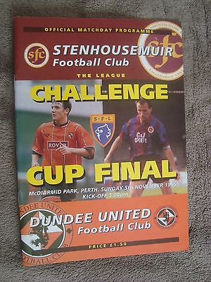 1995 Scottish League Challenge Cup Final -Stenhousemuir V Dundee United
