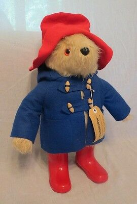 Vintage Paddington Bear   Blue Coat/Red Hat/Red Rain Boots  Made in England