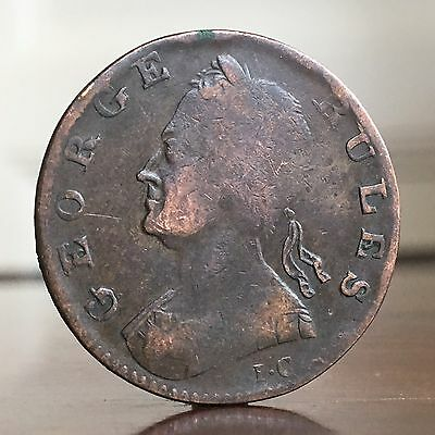 USA Colonial Interest. George II, Evasion Halfpenny Coin Or Token, 1730.