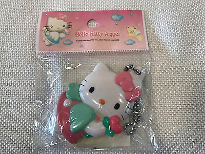 "Rare Hello Kitty Pink Angel Rose ""Japan Only"" Mirror Compact Keychain, 1999, NEW"