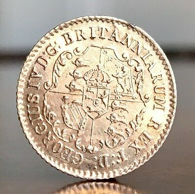 British West Indies. George IV, 1/16 Dollar, 1822. Anchor Money Issue. Beauty.