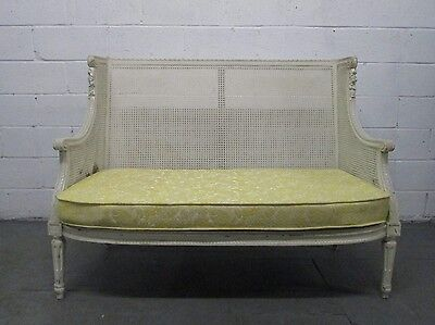 French Caned Sofa Antique Style Country Living