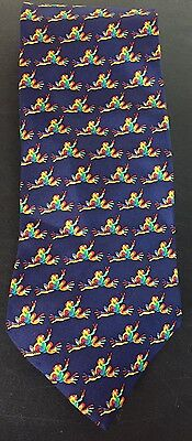 PEACE FROGS 100% SILK RAINBOW NECKTIE 58 Inches