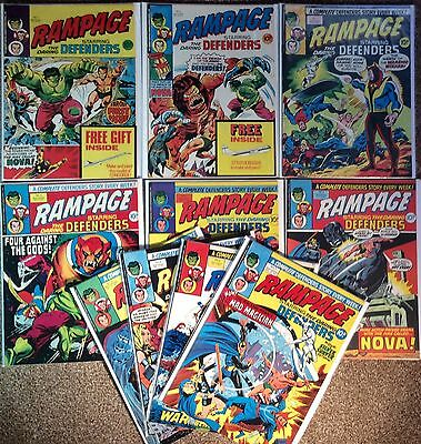 10 X Rampage Weekly. Issue #1 - #10. Rare Incl 1St App Of Nova. 1977. High Grade