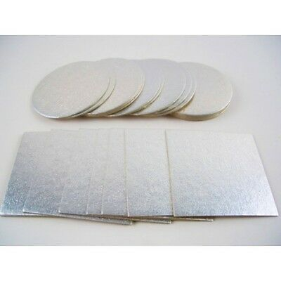 Pack of 5 Culpitt Cut-Edge Cake Cards Boards 1.8mm for supporting Tiered Cakes