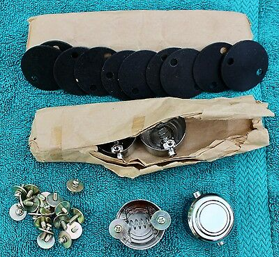 "Lot of 10 Turret Lugs for Your Snare Drum Project. NOS 1 3/8"" hole pattern"