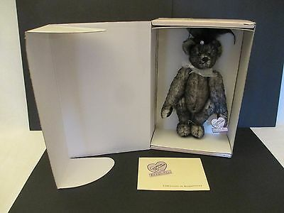 Annette Funicello Miss Mae Black Tipped Mohair Victorian Bear - Limited Edition
