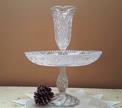 Duncan & Miller Sandwich Glass Epergne Early American Sandwich Glass