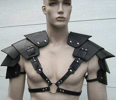 Men's Genuine Leather Shoulder Harness Larp Body Armour Body Armor
