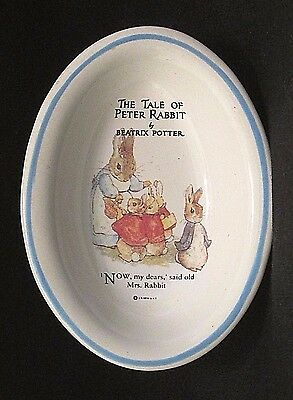 Miniature Oval dish The Tale of Peter Rabbit By Beatrix Potter F. Warne & Co.