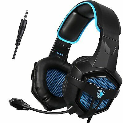 Gaming Headset For New Xbox one PS4 PC Laptop iPad iPod (Black&Blue)