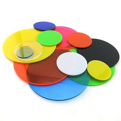 Color Acrylic Sheet Round Plexiglass Plastic Plate Dia 20-400mm DIY Model Craft