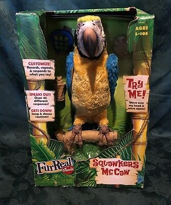 Hasbro FurReal Friends SQUAWKERS MACAW Parrot Interactive Bird Pet Great Gift!