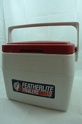 Vintage COLEMAN Featherlite Trailers 5272 Personal 8 Drink Lunchbox Ice Chest