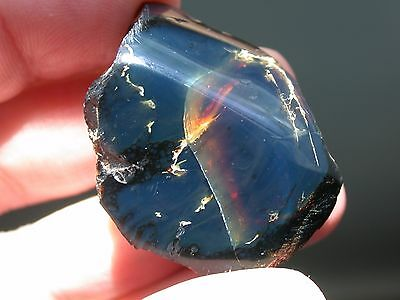 Deep BLUE AMBER Gemstone TOP Quality and Very RARE from West Papua