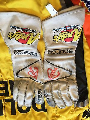 Austin Dillon Dow 3 Andys Frozen RCR Nascar Race Used Worn Sparco Drivers Gloves