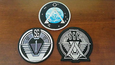 STARGATE SG-1 SGC Earth Embroidered Patches Set of 3