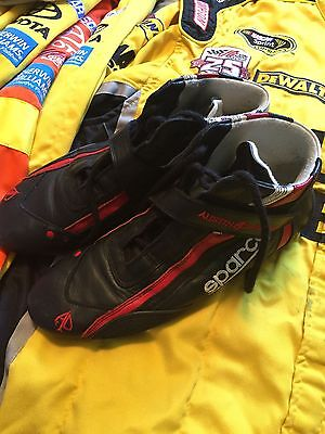 Austin Dillon Dow 3 RCR Nascar Race Used Worn Sparco Drivers Shoes
