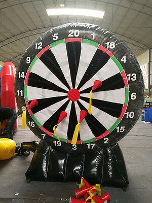 New Inflatable Game 2.4M Giant Inflatable Dart Board with Blower