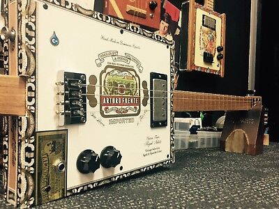 Buzz Box Cigar Box Guitar - Four String Cigar Box Guitar