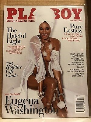 Playboy December 2015 ~ Eugena Washington ~ VERY GOOD!