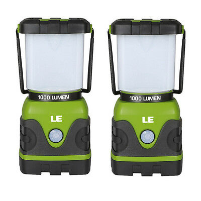 2pcs Portable LED Camping Lantern Dimmable 4 Modes 1000lm Water Resistant Light