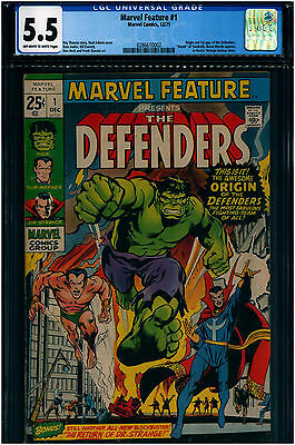Marvel Feature #1 CGC 5.5 First appearance of the Defenders