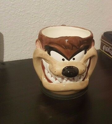 VINTAGE Applause Looney Tunes Tasmanian Devil TAZ Coffee Mug Cup Ceramic 3D 1995