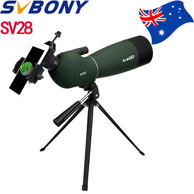 AU 25-75x70mm Angled Zoom Spotting Scope Waterproof+Tripod+Phone Mount Adapter