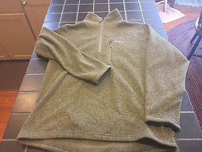 NWT Simms Rivershed Sweater Quarter Zip Fleece Sweater, Size L, Loden Color