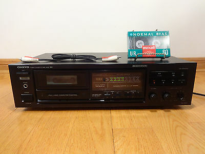 Onkyo TA-2000 Stereo Cassette Tape Deck HX-PRO 1989 Japan TESTED 100% Works NICE