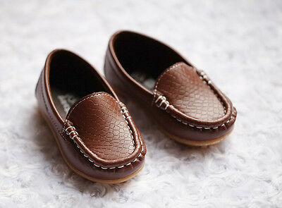 NEW Boys Formal Soft Rubber Sole Loafer Shoes, Brown Black, size 5,6, 7, 7.5,8