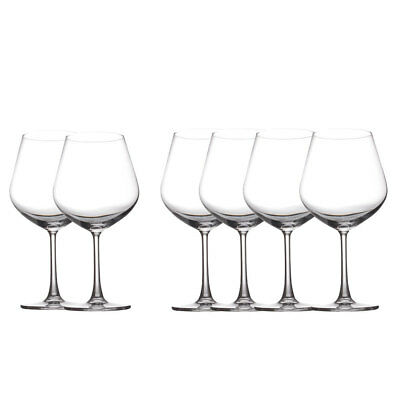 6pc Set Maxwell & Williams Cosmopolitan Burgundy/Red Wine Glasses 710Ml Bar