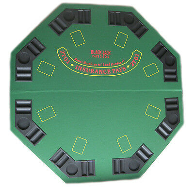 Poker Portable Table Top+Chip Trays,Drink Holders+Carry Bag 120cm Deluxe Size