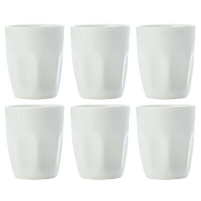 6pc Set Maxwell & Williams White Basics Latte Cup 200ML/Porcelain/Glass/Coffee