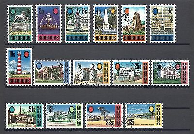 BARBADOS 1971 SG 399A/414A USED Cat £48