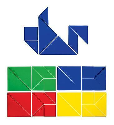 Tangram Plastic Student 28p Maths Games Teacher Resources School Puzzle