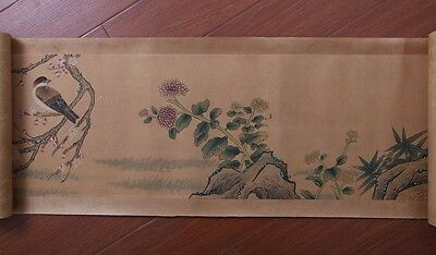 Very Long Nice Handwork China Landscape Old Scroll Painting Mark XuWei PP671