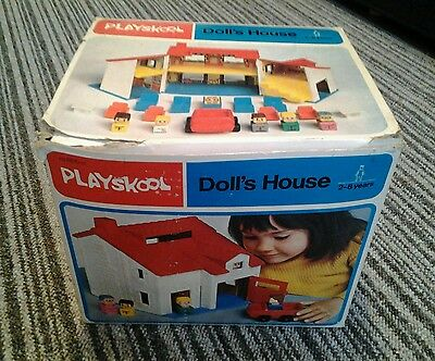 Vintage playskool dolls house boxed rare